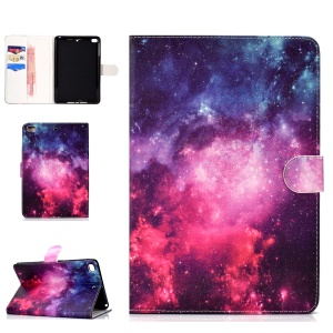 Pattern Printing Wallet Leather Case Accessory for iPad Mini 4 / 3 / 2 / 1 - Galaxy