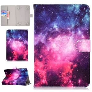 7-inch Universal Patterned Leather Stand Folio Casing for Huawei MediaPad T3 / Galaxy Tab 3 Lite - Galaxy