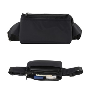 Multi-function Phone Pouch Bag Sports Waist Bag, Size: 11 x 20cm - Black