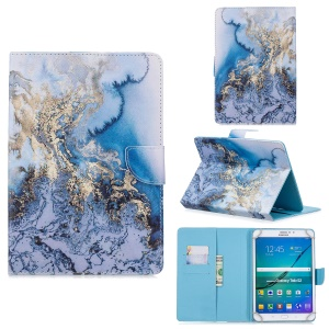 Universal Patterned Leather Wallet Case for iPad 9.7-inch/Galaxy Tab S2 9.7 - Marble