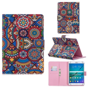 10-inch Universal Patterned Leather Wallet Case for iPad 9.7-inch/Galaxy Tab S2 9.7 Etc - Bohemia Flower