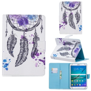 10-inch Universal Patterned Leather Wallet Case for iPad 9.7-inch/Galaxy Tab S2 9.7 Etc - Dream Catcher