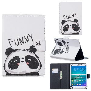 Universal Patterned PU Leather Stand Tablet Casing for 8-inch Tablet PC - Panda