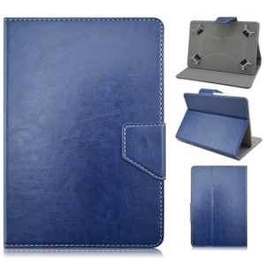 Universal Crazy Horse Leather Shell for Galaxy Tab 3 7.0 / Kindle Fire, Size: 195x125mm - Deep Blue