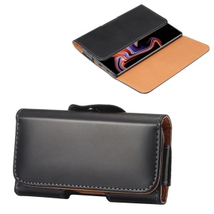 6.3 inch Horizontal Universal PU Leather Phone Case Pouch Bag with Belt Clip for Men, Size: 17 x 8.2 x 1.8cm - Black