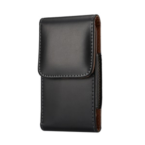 6.3 inch Universal Case PU Leather Phone Pouch Bag for Men, Size: 16.5 x 8.3 x 1.8cm - Black