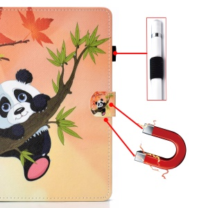 Universal 7-inch Patterned Tablet PU Leather Card Holder Case for Galaxy Tab A 7.0 / Lenovo Tab3 7 Plus etc - Panda on the Tree
