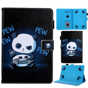 Universal 10-inch Animal Patterned Tablet PU Leather Card Holder Case for iPad 9.7 (2018) / Samsung Tab S3 9.7 etc - Panda