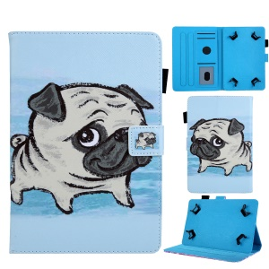 Universal 7-inch Animal Patterned Tablet PU Leather Card Holder Case for Galaxy Tab A 7.0 / Lenovo Tab3 7 Plus, etc - Shar Pei