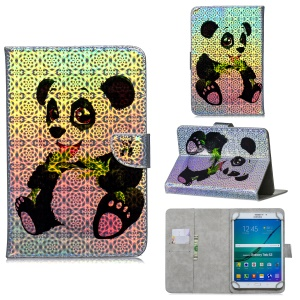 Universal 10-inch Patterned Tablet PU Leather Card Holder Case for iPad 9.7 (2018) / Lenovo Tab 4 10 Plus - Panda