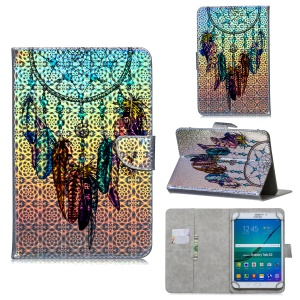 Universal 10-inch Patterned Tablet PU Leather Card Holder Case for Apple Samsung Xiaomi Huawei  - Dream Catcher