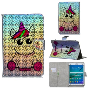 Universal 7 Inch Stylish Pattern Leather Case for Huawei Samsung Asus - Unicorn