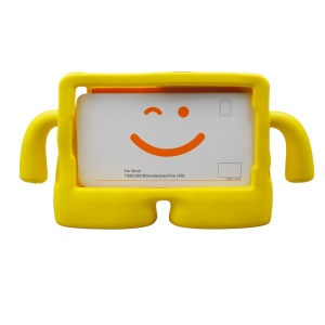 3D Cute Cartoon Kids TV Shockproof EVA Case for 8 inch Tablet - Yellow