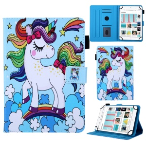 Pattern Printing Leather Flip Tablet Case for 10-Inch Tablet - Horse