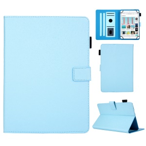 Leather Case Tablet Cover with Card Storage for 10 inch Tablet - Baby Blue