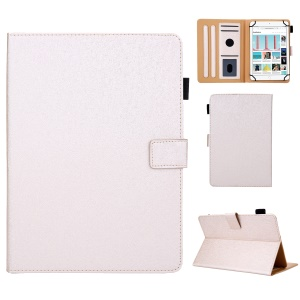 Leather Case Tablet Cover with Card Storage for 10 inch Tablet - Gold