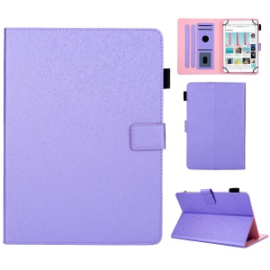Universal Leather Case Cover with Card Storage for 8 inch Tablet - Purple