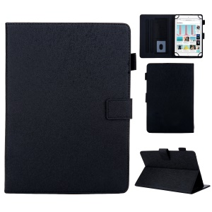 Universal Leather Case Cover with Card Storage for 8 inch Tablet - Black
