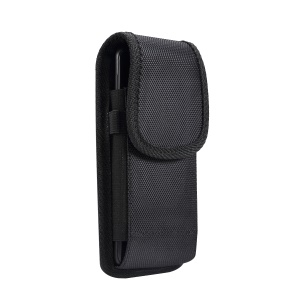 Outdoor Tactical Pouch Case Phone Belt Vertical Holster Universal Clip Flip Holder for Cell Phone - Black