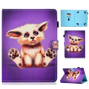 Universal 7-inch Pattern Printing Card Slots Stand Leather Tablet Cover - Abyssinian Cat