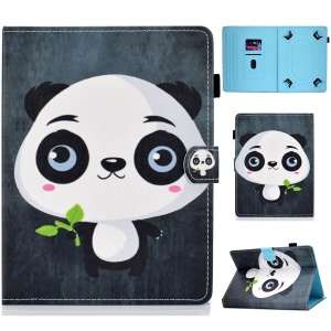 Universal 7-inch Pattern Printing Card Slots Stand Leather Tablet Cover - Cute Panda
