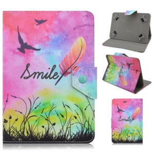 Universal Leather Stand Case for Galaxy Tab 3 7.0 / Amazon Kindle Fire, Size: 195 x 125mm - Colorful Sky & Birds