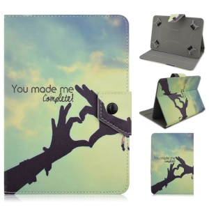 Universal Leather Magnetic Flip Cover for Galaxy Tab 3 7.0 / Amazon Kindle Fire, Size: 195 x 125mm - You Made Me Complete