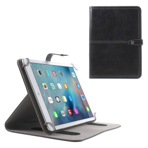 Universal Stand Leather Flip Case for iPad Air 2 / Samsung Tab S2 9.7 / HTC Google Nexus 9 Etc - Black