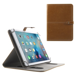 Universal Leather Case Cover for iPad Air 2 / Samsung Tab S2 9.7 / HTC Google Nexus 9 Etc - Brown