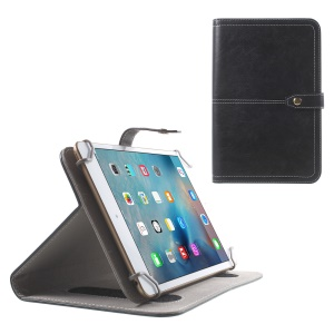 Universal Leather Case Stand for Samsung Galaxy Tab 3 Lite 7.0 T111 T110 / Amazon Kindle Fire - Black