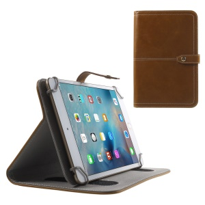 Universal Leather Stand Case for Samsung Galaxy Tab 3 Lite 7.0 T111 T110 / Amazon Kindle Fire - Brown