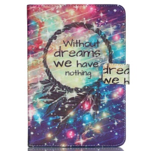 Universal Leather Case for iPad Air 2, Size: 253x180mm - Dream Catcher and Quote