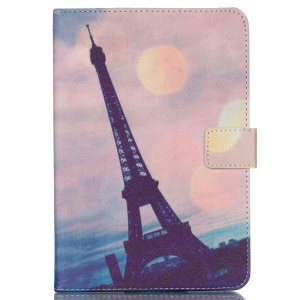 Universal Leather Cover for iPad Air 2, Size: 253x180mm - Eiffel Tower