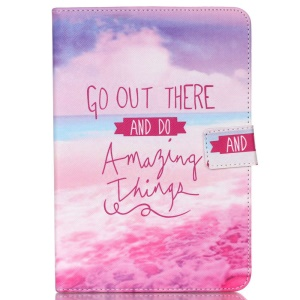 Wallet PU Leather Cover for iPad Air 2 - Go Out There and Do Amazing Things
