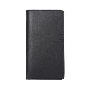 Elefante Skin PU Leather Pouch Wallet para iPhone X 8/ Samsung Galaxy S7 / Sony Xperia Z5, porte: 154 x 82mm - negro