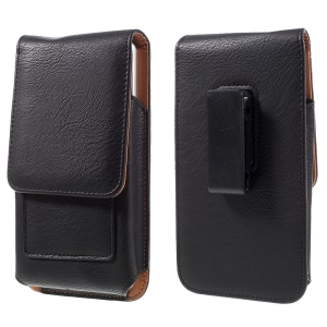 Universal Card Holder Leather Holster for Huawei Mate 8/Mate7/Galaxy Note5 - Black