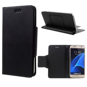 Smooth Texture Universal Leather Case for iPhone 6s 6 / Galaxy S7/S6/S5 - Black