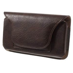 Leather Pouch Holster Case for Samsung A9 / LG V10, Size: 170 x 90 x 11mm - Coffee
