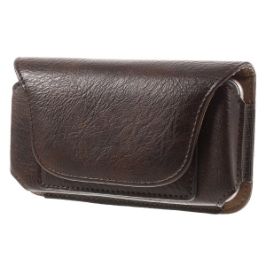 Horizontal Leather Holster Cover for iPhone 7 6s 6 , Size: 145 x 75 x 15mm - Brown