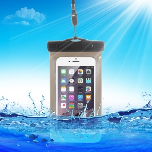 10M Universal Waterproof Bag for iPhone 6s Plus/ Samsung Galaxy S7, Size: 163 x 90mm - Black