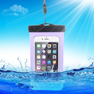 10M Universal Waterproof Bag for iPhone 6s Plus/ Samsung Galaxy S7, Size: 163 x 90mm - Purple