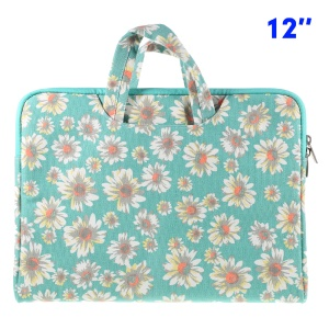 Universal Two-way Zipper Cloth Handbag for MacBook 12-inch with Retina Display (2015) - Flowers