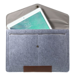 Leather Pouch Bag for 13.3 inch MacBook Air/Pro, Size: 35 x 23.5cm - Grey