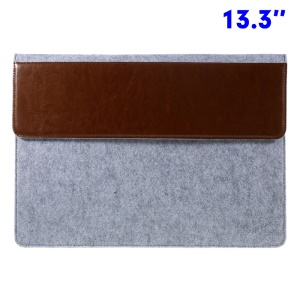 Funda De Bolsa Delgada Para 13,3 Pulgadas Macbook Pro / Air, Tamaño: 355 X 255 Mm - Marrón