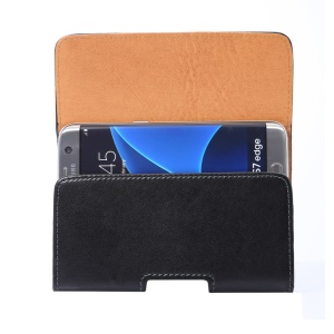 Universal Belt Clip Leather Pouch Holster for Samsung Galaxy S7 edge G935, Size: 155 x 80 x 18mm