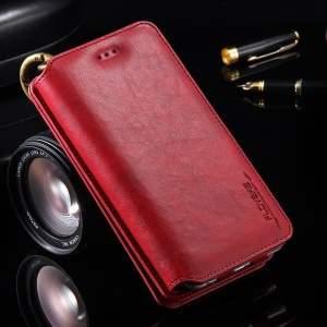 FLOVEME Multifunctional Wallet Leather Cover Case for iPhone 7 6s 6 Etc - Red