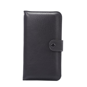 Elephant Grain Wallet Leather Pouch Case for iPhone 7 6s/Samsung Galaxy S7 G930 - Black