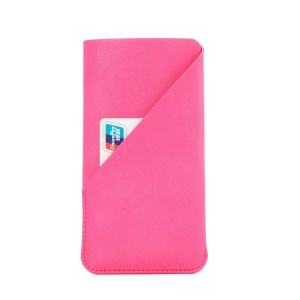 Elephant Skin Texture Leather Bag for iPhone 7 6s, Size: 145 x 75mm - Rose