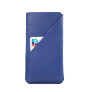 Elephant Skin Texture Leather Sleeve for iPhone 7 6s, Size: 145 x 75mm - Blue