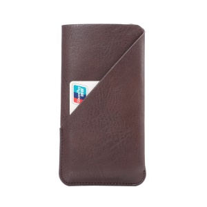 Elephant Skin Texture Leather Pouch for iPhone 7 6s, Size: 145 x 75mm - Brown